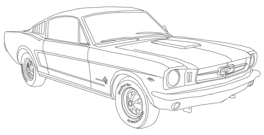 Images Of Cool Mustang Drawings