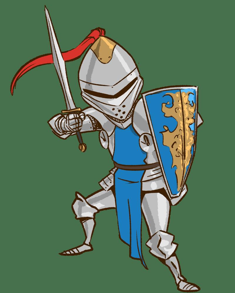Картинка с рыцарем для детей, открытка создать