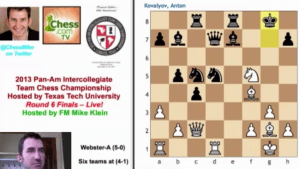 2013 Pan-Am Intercollegiate Team Chess Championship – Round 6 Highlights!'s Thumbnail