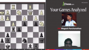 Your Games Analyzed With GM Panchanathan: 4-18-13