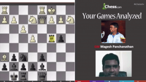 Your Games Analyzed With GM Panchanathan: 5-22-13