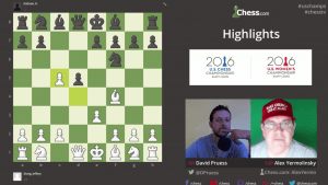 Highlights US Chess Championships Round 3: 04-16-16