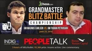 Carlsen vs Petrosian: GM Blitz Battle (Full Match)