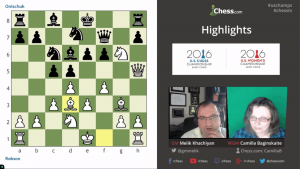 Highlights US Chess Championships 2016 Round 2: 04-15-16