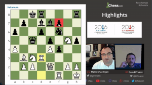 Highlights US Chess Championships 2016 Round 4: 04-17-16