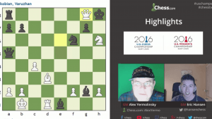 Highlights US Chess Championships 2016 Round 5: 04-18-16
