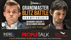 GM Blitz Battle: Carlsen vs Grischuk