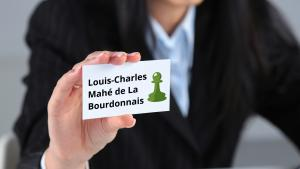LaBourdonnais Presents His Calling Card