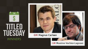 Magnus Carlsen Crashes Titled Tuesday!