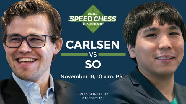 2017 Speed Chess Championship: Carlsen vs So