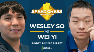 2018 Speed Chess Championship: Wesley So Vs Wei Yi