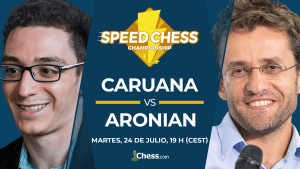 Caruana vs Aronian | Torneo de ajedrez Speed Chess 2018