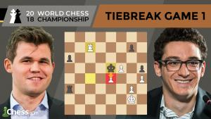 Carlsen vs Caruana (Tiebreak Game 1 Analysis) | World Chess Championship 2018