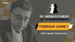 2018 World Chess Championship: Tiebreak Game 1