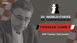 2018 World Chess Championship: Tiebreak Game 3