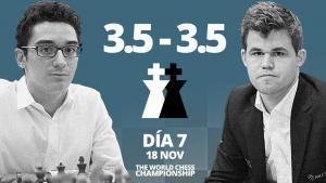 Carlsen vs Caruana (7ª partida) | Campeonato del Mundo de ajedrez 2018