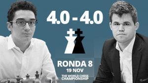 Carlsen vs Caruana (8ª partida) | Campeonato del Mundo de ajedrez 2018