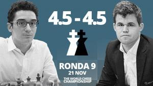 Carlsen vs Caruana (9ª partida) | Campeonato del Mundo de ajedrez 2018