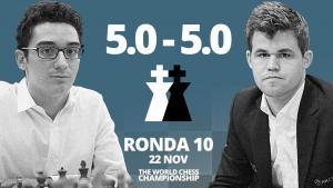 Carlsen vs Caruana (10ª partida) | Campeonato del Mundo de ajedrez 2018