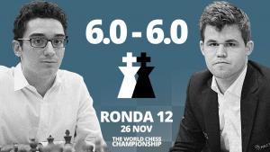 Carlsen vs Caruana (12ª partida) | Campeonato del Mundo de ajedrez 2018