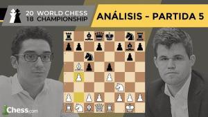 Caruana vs Carlsen | Mundial de ajedrez 2018 | Resumen 5ª partida