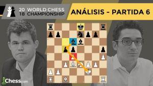Caruana vs Carlsen | Mundial de ajedrez 2018 | Resumen 6ª partida