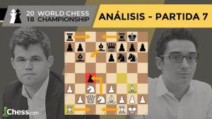Caruana vs Carlsen | Mundial de ajedrez 2018 | Resumen 7ª partida