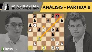 Caruana vs Carlsen | Mundial de ajedrez 2018 | Resumen 8ª partida
