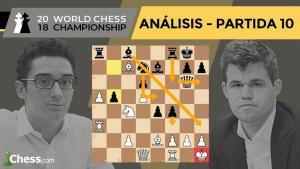 Caruana vs Carlsen | Mundial de ajedrez 2018 | Resumen 10ª partida