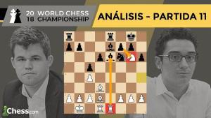 Caruana vs Carlsen | Mundial de ajedrez 2018 | Resumen 11ª partida