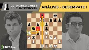 Partida 1 DESEMPATES Campeonato del Mundo de Ajedrez | Carlsen vs. Caruana