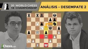 Partida 2 DESEMPATES Campeonato del Mundo de Ajedrez | Carlsen vs. Caruana