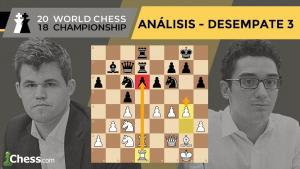 Partida 3 DESEMPATES Campeonato del Mundo de Ajedrez | Carlsen vs. Caruana