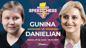 Danielian vs. Gunina   Gran Final del Speed Chess Femenino