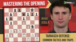 Learn To Play The Tarrasch Defense: Traps And Tactics