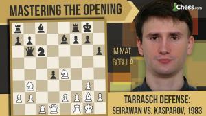 Learn To Play The Tarrasch Defense: Seirawan vs Kasparov