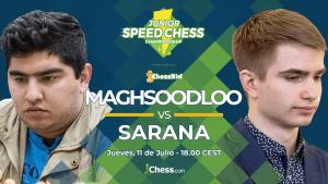 Maghsoodloo vs. Sarana | Speed Chess Championship Juvenil