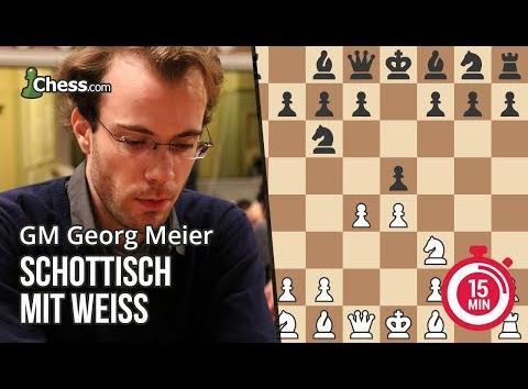 Georg Meier erklärt die Schottische Eröffnung für Weiß in 15 Minuten