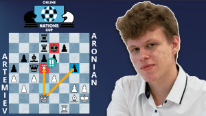 Online Nations Cup Game Of The Day: Artemiev - Aronian