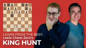 Learn From The Best: Leela Chess Zero's King Hunt