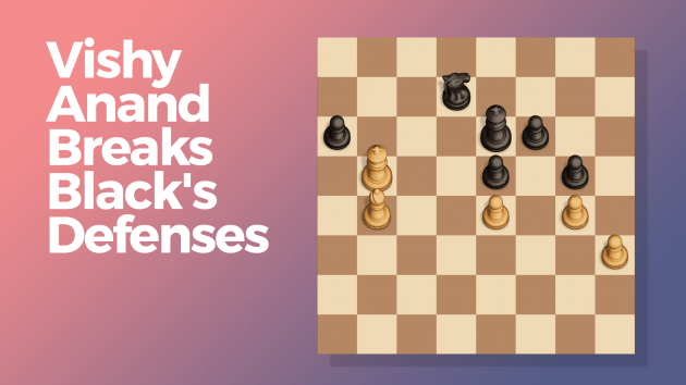 Vishy Anand Break's Black's Defenses