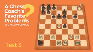 A Chess Coach's Favorite Problems: Test 3